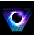 Black hole with starry vortex vector image vector image