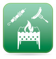 brazier kebab and sausage icon vector image