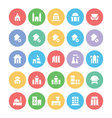 Building and Furniture Icons 3 vector image vector image