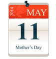 Calendar of mothers day 2014 vector image vector image