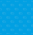 camcorder pattern seamless blue vector image
