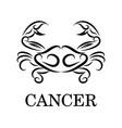 cancer zodiac line art eps 10 vector image vector image