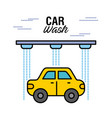 car wash service auto station business vector image