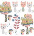 cats seamless pattern it is located in swatch vector image vector image