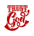 christian typography lettering and vector image vector image