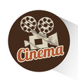 cinema film design vector image vector image