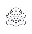 clown face line icon concept clown face vector image