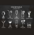 cocktail glasses for drink vector image vector image