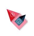 color paper arrow design template vector image vector image