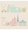 concept travel or studying italian vector image vector image