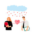 couple in love heart bound vector image