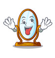 crazy big dressing mirror isolated on mascot vector image vector image