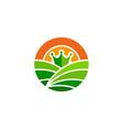 crown farm logo icon design vector image vector image