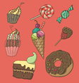 cute dessert set vector image