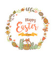 cute easter festive frame vector image vector image