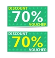 Discount voucher cards vector image