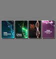 dna poster set biotechnology concept vector image