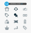 e-commerce icons set with make payment label vector image