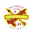 emblem of longboard club vector image vector image