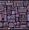 ethnic handmade lilac ornament seamless pattern vector image vector image