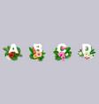 floral alphabet paper cut vector image vector image