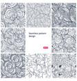 floral seamless vintage pattern set vector image vector image