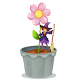Flower Pot Witch vector image vector image