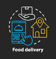 food delivery chalk concept icon customer service vector image vector image