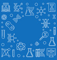 genetics and science outline vector image vector image