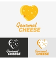 Gourmet cheese logo vector image vector image