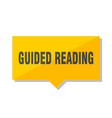 guided reading price tag vector image vector image