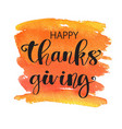 happy thanksgiving postcard vector image vector image