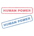 human power textile stamps vector image vector image