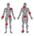 Human weak joints vector image vector image