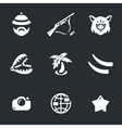 Icons Set of Safari vector image vector image