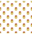 Jar of honey pattern cartoon style vector image vector image