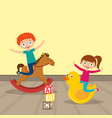 kids playing cartoon vector image vector image