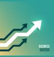 leading business arrow toward upward side vector image vector image
