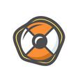 lifebuoy orange color icon cartoon vector image vector image
