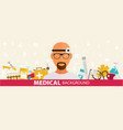medical flat sticker background concept design vector image