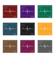 medical monitormedicine single icon in black vector image vector image