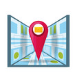 message service with map and ubication search vector image vector image