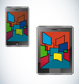 Modern tablet flat user interface vector image vector image