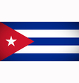 national flag cuba vector image vector image