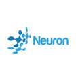 neuron logo design inspiration vector image vector image
