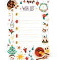 new year wish list decorated vector image vector image