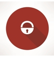 old lock icon vector image