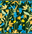 pattern of different meadow flowers vector image