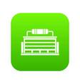 plant icon digital green vector image vector image
