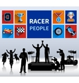 Racers Concept vector image
